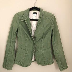 Spring Green Corduroy Women's Jacket